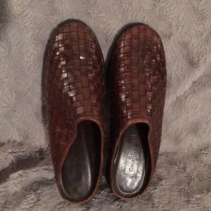 Cole Haan woven mules
